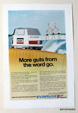 Evinrude 100hp Starflite Outboard Motor / Skiers 1972 Magazine Print Ad 10 x 7