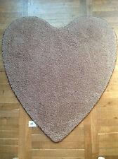 Herzteppich Teppich Herz Valentinstag Liebe 120x128cm cm braun-beige (H0023)