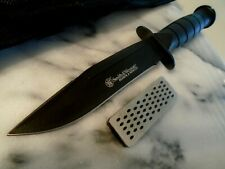 Smith & Wesson Search Rescue Full Tang Bowie Combat Knife Whetstone 440C CKSUR1