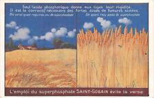 CPA PUBLICITE COMPAGNIE DE ST GOBAIN ENGRAIS CHIMIQUE