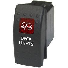 Rocker switch 758 12V 20A marine ARB DECK LIGHTS waterproof boat red on off