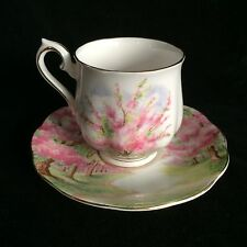 Royal Albert Demitasse Cup & Saucer Bone China Blossom Time Gold Trim England