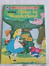 Vintage Walt Disney's 1976 Alice in Wonderland Coloring Book Unused