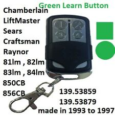 Sears Liftmaster Chamberlain 81LM Comp Mini Garage remote / green Learn button
