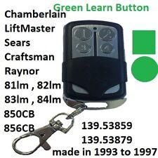 Sears Craftsman Garage Door Opener Mini Remote Control 138.53859 4 Button