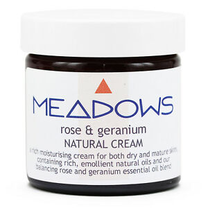 Rose & Geranium Natural Cream (Meadows Aroma) 60ml