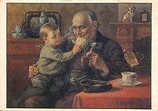 Alte Kunstpostkarte - C. Jetses - Grootvader en ot
