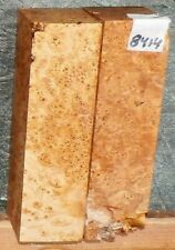 Birdseye Maple Burl Wood 8414 Two Pieces  6 x 1.75 x 1.75