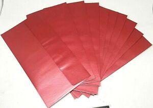 10 x La Carta Metallic Shimmer Premium DL Envelopes Red Wedding Party Invites