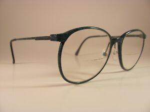 Vintage Marchon CFG-16 Speckled Blue-Green Oversized Full-Rim RX Eyeglass Frames