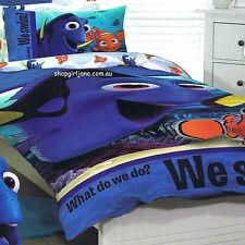 Finding Dory - We Swim - Single/US Twin Bed Quilt Doona Duvet Cover Set Nemo