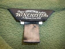 Men's Winchester XXL 2XL Solid Green Sweatshirt LS Pullover Zipper Outdoors EUC