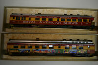 Rivarossi HO Scale Royal American Shows TAMPA #56 & #60 1920 Diner Cars