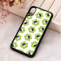 Green Yin & Yang Flower Lucky Phone Case iPhone X 11 12 Mini Pro Max Soft Cover