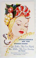 COPACABANA RESTAURANT NEW YORK VINTAGE ADVERTISING POSTCARD