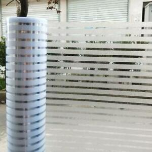 Electrostatic glue-free frosted office glass window film translucent stripes