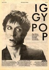 IGGY POP New Values Tour 1979 UK Poster size Press ADVERT 16x12 inches