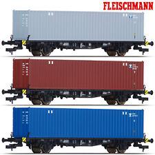 Fleischmann 631781-S3 H0 Container-Tragwagen der DB 3er-Set ++ NEU ++