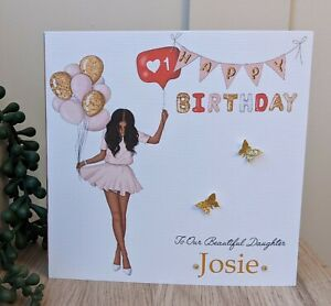 Personalised Female Birthday Card Daughter Granddaughter Niece Friend Cousin