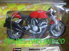 MOTO 1/18 DUCATI SPORT 1000 BOITE BURAGO