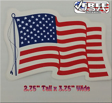 Wavy USA American Flag Sticker Decal