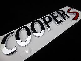 Mini Cooper S Badge Genuine R53 R56 F55 F56 Cooper S Clubman S R60  51142755618