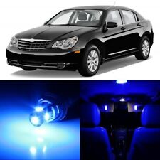 12 x Ultra Blue Interior LED Lights Package For 2007-2010 Chrysler Sebring +TOOL