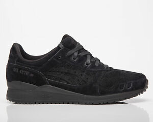 Asics Gel-Lyte III OG Men's Black Low Casual Athletic Lifestyle Sneakers Shoes
