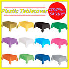 Plastic Table Cloth Colour Rectangle Cover For Wedding Birthday Party Tablecover