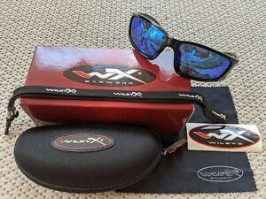 Wiley X Zak ACZAK07 Blue Mirror Polarized Sunglasses