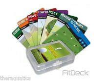 FITDECK GOLF 56 Playing Cards Off Season Work Out Putt Chip Pitch Drive Core 014