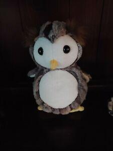 Steiff Owl  045639 Posh Pattern Pets Eugen Eule im Koffer