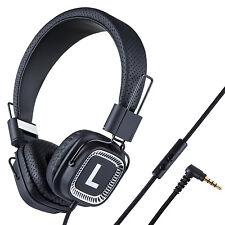 Kanen Foldable Headphones Headsets Adjustable for iPhone iPad iPod Kindle Black