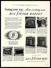 1945 RCA Victor Radios Vintage PRINT AD Golden Throat Loud Speaker Cabinet Music