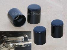 4X Black Docking Hardware Point Cover Kit Fit For Harley Touring FLHR FLHX FLHT