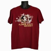 Mens Gildan Florida State University Seminoles Red Short Sleeve T-Shirt Size L