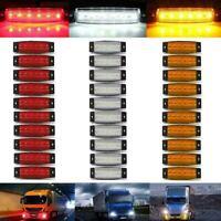 10xluz de posición laterales LED luz blanca rojo Ámbar luminaria camión remolque