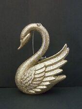 Gold Glitter Swan Christmas Ornament * Kurt  S. Adler