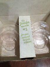 Vintage Mosser Glass Miniatures Child Jennifer Pink #3 set with box EUC