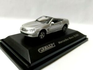 Welly 1/87 HO sport Euro open car Roadster Diecast model Mercedes Benz SL500 Sil
