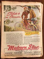 Original Malvern Star bicycles 1940s Vintage Print Advertising Australiana iv