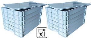 """12x Pizzateigbehälter + 2x Deckel gratis! Pizzaballenbox  600x400x70mm  """"NEU"""""""