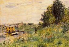 Art Oil painting Claude Monet - The Banks of the Seine at the Argenteuil Bridge