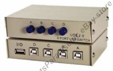 USB 2.0 ABCD 4way/port manual switch box data/printer/camera/hub sharing,4B 1A{T