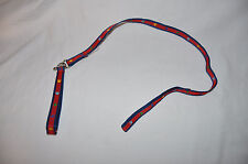 Build a Bear Navy/Red Multi Paw Print Leash with Collar