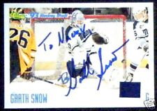 Garth Snow Quebec Nordiques 1993 Classic Signed Card