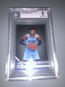 2019-20 Clearly Donruss #52 Ja Morant Rated Rookie RC! BGS 8