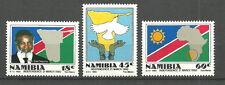 Namibia - Unabhängigkeit  Satz postfrisch 1990 Mi. 668-670