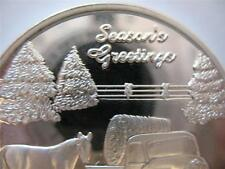 1-OZ.999 SILVER 2013 CHRISTMAS FARM WITH HORSE & TRUCK ORNAMENT COIN + GOLD
