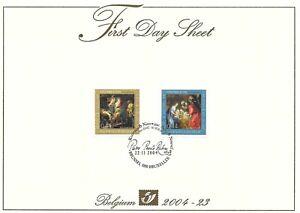 [FDS143] Belgium FDS 2004-23 Christmas First Day Sheet SUPERB
